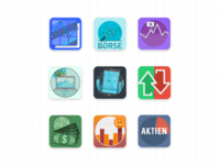 Trading app icons