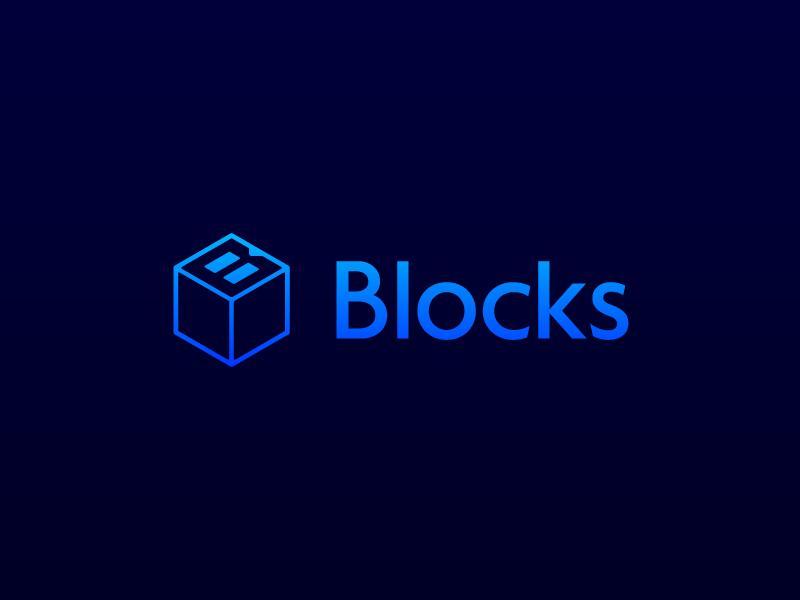Blocks logo development icon logo blocks app in progress development
