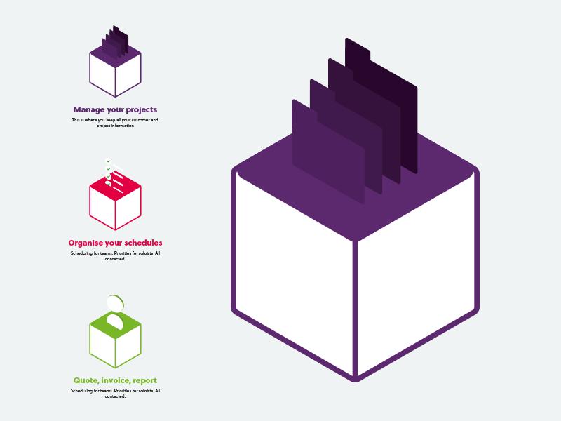 Icon design ideas icons colour landing page blocks