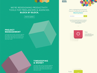 Blocks landing page ideas