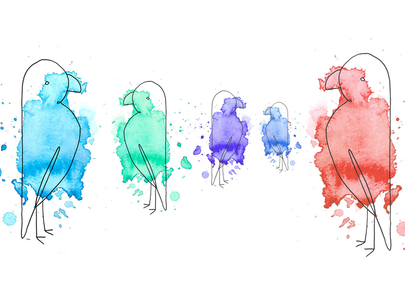 Early tests for our watercolour illustrations water colour illustrations landing page blocks