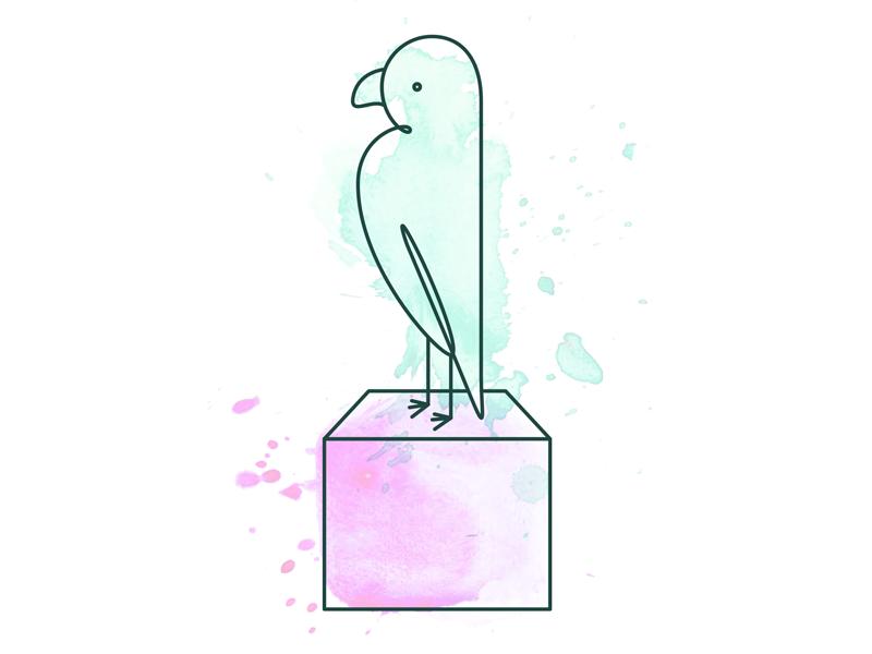 Refining illustration style water colour illustrations landing page blocks