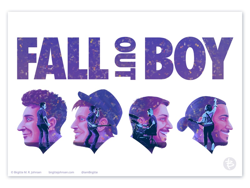 Fall Out Boy double exposure poster