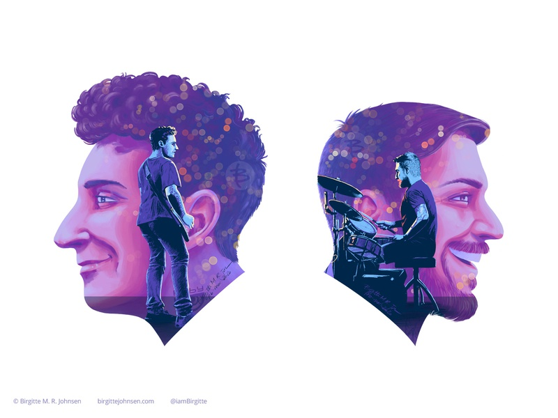 Joe Trohman and Andy Hurley - detail of double exposure poster