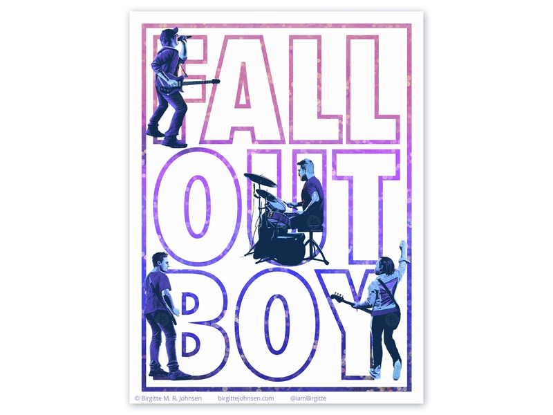 Fall Out Boy live poster