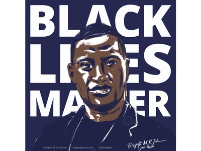 George Floyd black lives matter portrait illustration portrait art portrait digital art digital illustration limited colours limited colour palette art illustration
