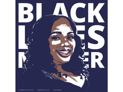 Breonna Taylor blm breonna taylor say her name black lives matter portrait painting portrait illustration portrait art portrait digital art digital illustration limited colours limited colour palette art illustration