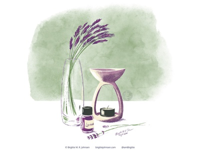 Lavender huely challenge huely2020 huely floral lavender flowers flower flora still life digital art digital illustration limited colours limited colour palette art illustration