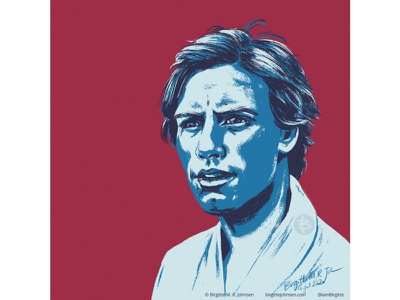 Luke Skywalker starwars portrait illustration portrait huely challenge huely2020 huely mark hamill luke skywalker star wars art star wars fanart fan art digital art digital illustration limited colours limited colour palette art illustration