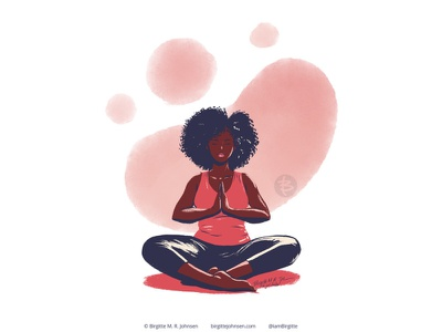 Meditate huely challenge huely2020 huely editorial illustration spot illustration relaxation yoga meditation self love self care digital art digital illustration limited colours limited colour palette art illustration