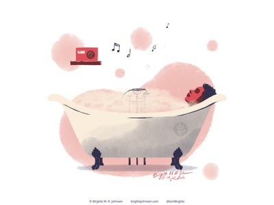 Home spa day relaxation spot illustration editorial illustration huely challenge huely2020 huely pamper yourself bubble bath spa day self love self care digital art digital illustration limited colours limited colour palette art illustration