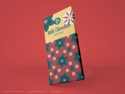 Milk chocolate packaging - Clematis pattern huely challenge huely2020 huely pattern art floral pattern packaging mockups packaging mockup packagingdesign packaging flower pattern flora digital art digital illustration limited colours limited colour palette art illustration