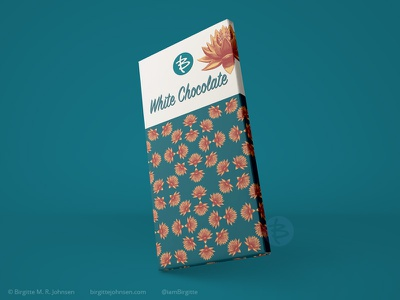 White chocolate packaging - Lotus pattern huely challenge huely2020 huely packaging mockups pattern art flower packaging mockup floral pattern floral pattern packaging design packagingdesign packaging digital art digital illustration limited colours limited colour palette art illustration