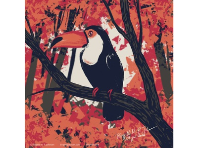 Toucan huely challenge huely2020 huely toucan bird cute animal digital art digital illustration limited colours limited colour palette art illustration