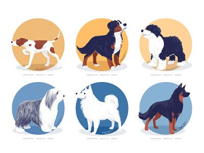 Doggust 2020, the third set of six dogs doggsut2020 doggust dog illustration cute dog digital art digital illustration art illustration