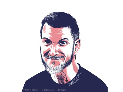 Andy Hurley portrait fan art fanart andy hurley fob fall out boy portrait limited colours limited colour palette digital art digital illustration art illustration