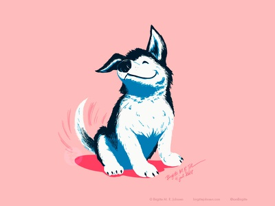 Our hero puppy digital art art childrens illustration limited colours limited colour palette illustration digital illustration