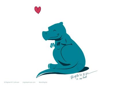 Tiny Dino Loves You