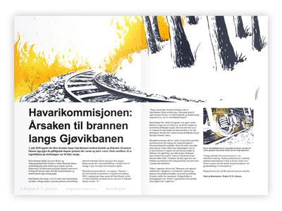 Editorial illustration: Wildfire