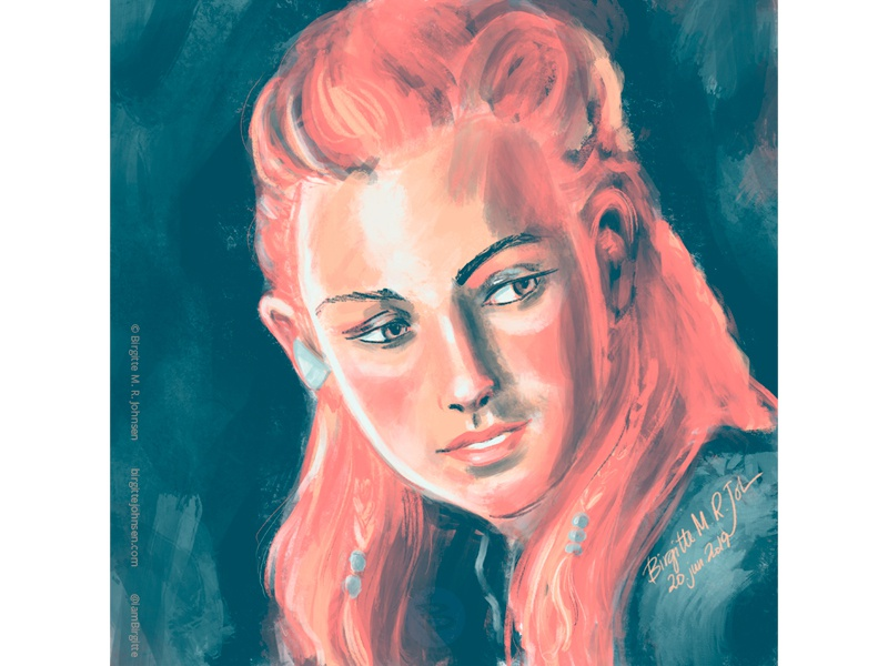 Aloy Painterly Portrait By Birgitte Johnsen On Dribbble