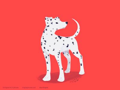 Dalmatian doggust2019 doggust dog illustration dog animal limited colours limited colour palette art illustration digital art digital illustration