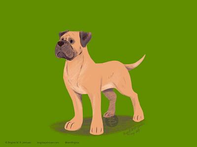 Mastiff doggust2019 doggust dog illustration dog animal limited colours limited colour palette art illustration digital art digital illustration
