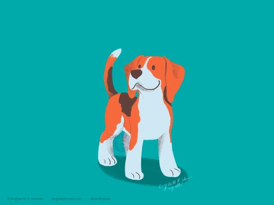 Beagle doggust2019 doggust dog illustration dog animal limited colours limited colour palette art illustration digital art digital illustration