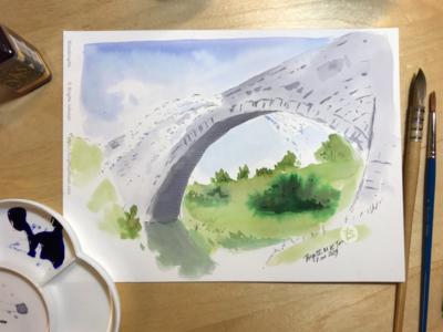 Inktober day 2: Tsujunkyo Bridge