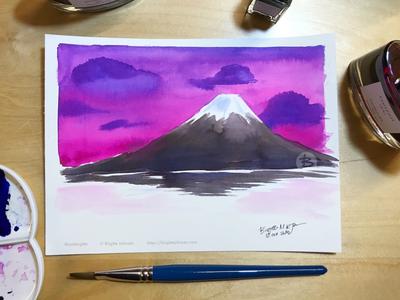 Inktober day 12: Mount Fuji