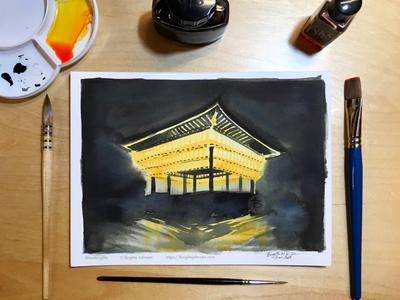 Inktober day 13: Yasaka Shrine