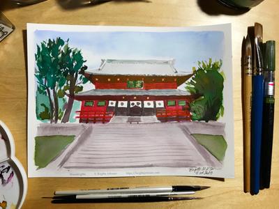 Inktober day 18: Rinno-Ji temple