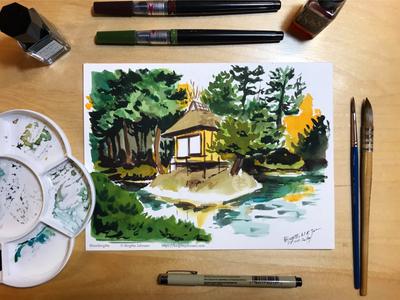 Inktober day 23: Oyaku-en