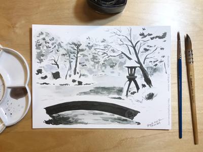 Inktober day 26: Kenroku-en garden