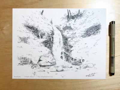 Inktober day 27: Ichijo Falls