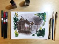 Inktober day 28: Iwaya-ji temple