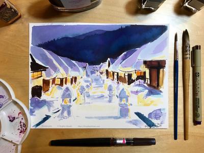Inktober day 30: Ōuchi-juku,