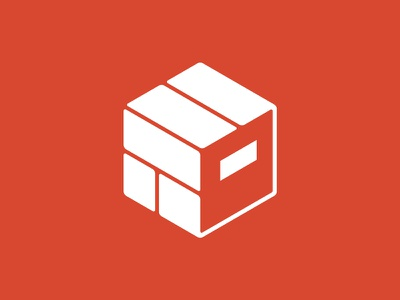 Brickclay Studio Logo Design polygon 3d logo studio box cube product clay brick logo design