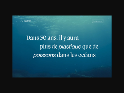 Pealoun — Website immersive experience animation video water fish ocean design 0 waste ecology