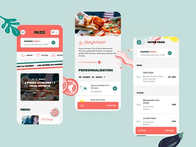 Pazzi — Webapp branding illustration foodporn food italian pazzi pizza webapp