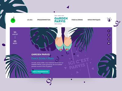 Paris La Défense – Garden Parvis foodtruck party place paris parvis garden illustration event festival website interface ux ui