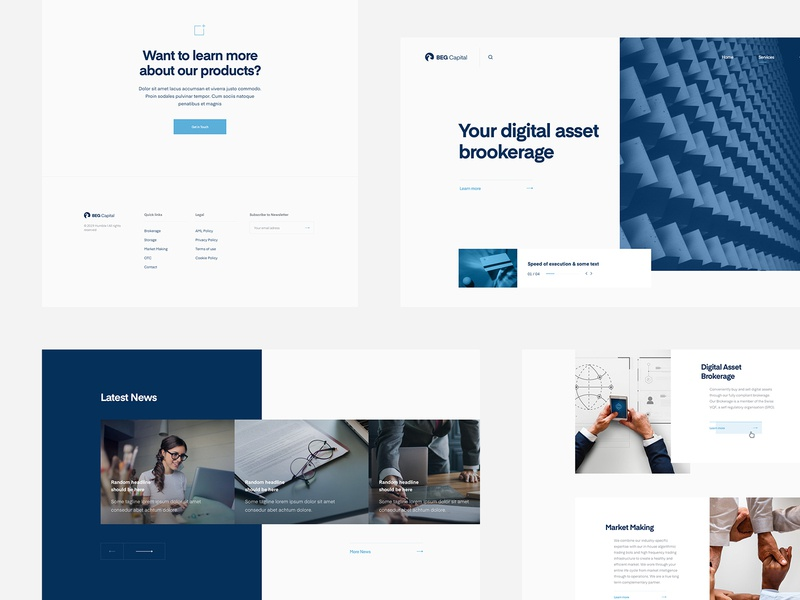 Beg Capital Webdesign designer wolinger real minimalism clean simple web ux ui webdesig design