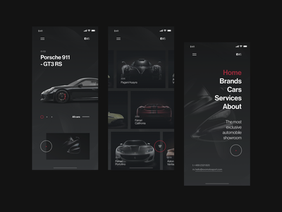 Evomotosport Mobile Design dark app real project wolinger web design ux ui clean simple design