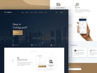 GoldGuard home page web design goldguard site dubai website clean simple web design gold