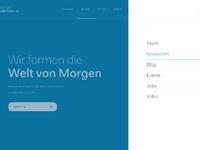 Home page menu