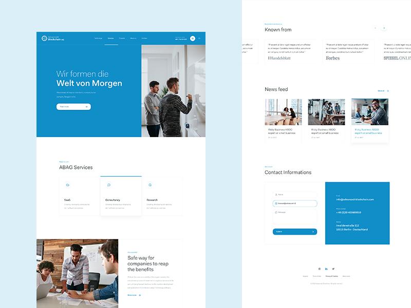 ABAG - Home Page v2 web design real work wolinger czech ux ui clean simple web website design