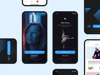 Goout iOS app real work ios app clean simple entertainment dark interface ux ui design product