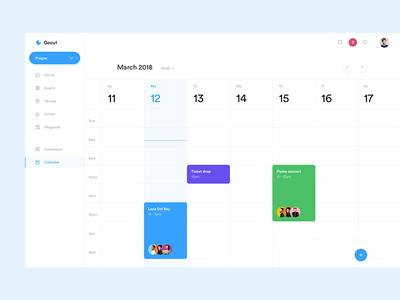 Goout calendar work design web simple clean ui ux czech wolinger real project web design