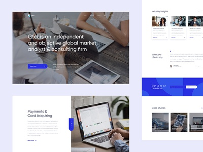 GTCT Home Page work design web simple clean ui ux czech wolinger real project web design