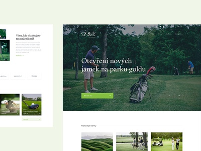 Golf Vacations work design web simple clean ui ux czech wolinger real project web design