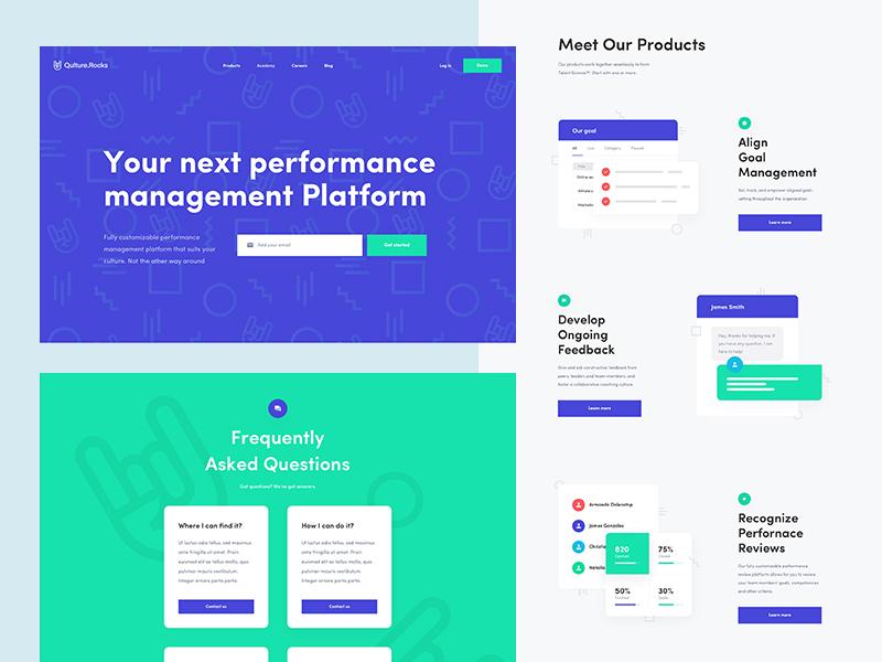 Qulturerocks Preview work design web simple clean ui ux czech wolinger real project web design